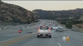 Caught On Camera: Road Rage Incident Ends In Rollover Crash