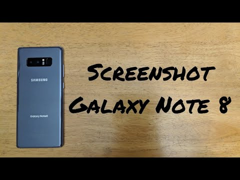 How to screenshot Samsung Note 8