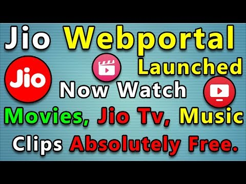 Jio Webportal Launched, Now Watch Jio Movies, Jio TV, Music and Clips Absolutely Free For PC Hindi