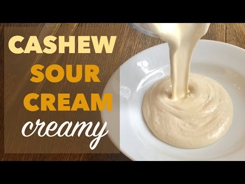 How to Make Cashew Sour Cream | Creamy Dip or Salad Dressing (Vegan, GF, Soy Free)