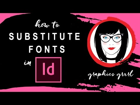 How to change fonts AFTER you're already working on a file in InDesign