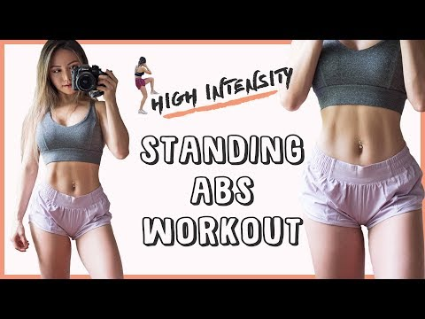 High Intensity AB Workout | 10 Min Standing Abs Workout to BURN FAT & Get ABS