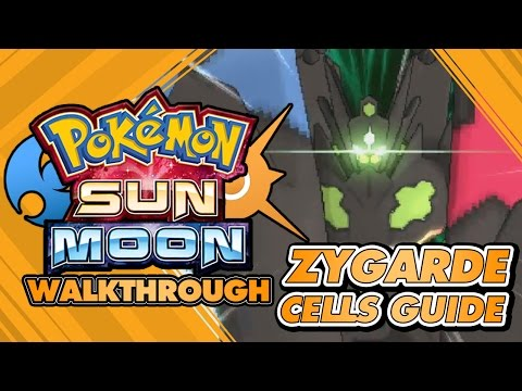 Pokémon Sun and Moon Walkthrough - How to get Zygarde Complete Form / ALL cells locations