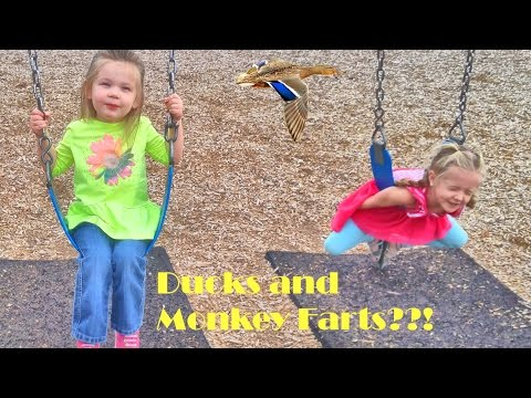 First Real Spring Day - Playing at the Park, Ducks, and Monkey Farts?