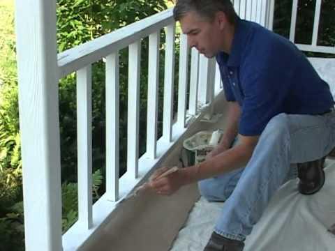 Caulk and Paint Porch Rail