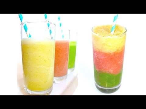 3 Smoothie Recipe - Pineapple - Strawberry - Mint (Delicious Easy & Dairy Free!)