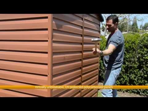 Palram Plastic Garden Storage Shed Polycarbonate SkyLight Sheds
