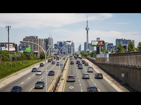 Toronto tolls or no tolls: From opposite directions