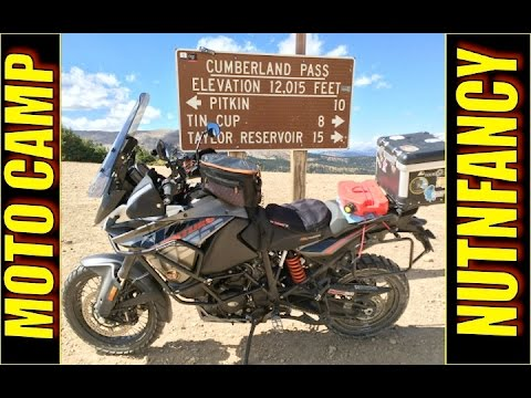 Motorcycle Camping: 1 Week Loadout Shown