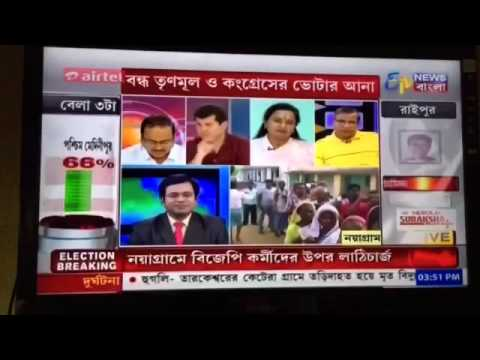 ETV Bangla during West Bengal Elections Phase 1A 4 April 2016 (2)