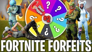 EXTREMELY PAINFUL WHEEL OF FORTNITE FORFEITS!! (Terrifying)