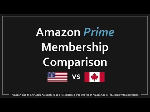 Amazon Prime US vs Canada Comparison