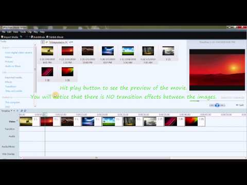 How to make Movie From Images in movie maker [HD]