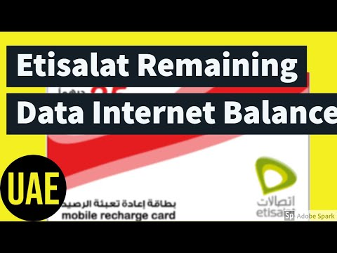 How To Check Etisalat Remaining Data Internet Balance