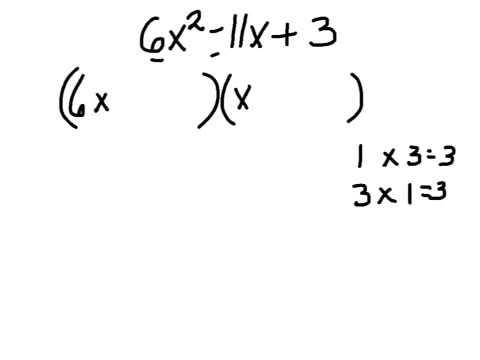 Factoring trinomials ax2 + bx + c
