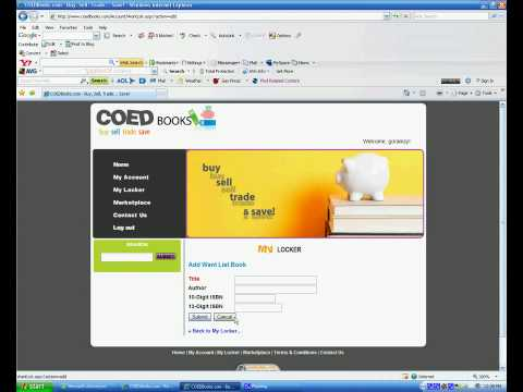 How to Buy Sell Trade Used Textbooks using Coedbooks.com
