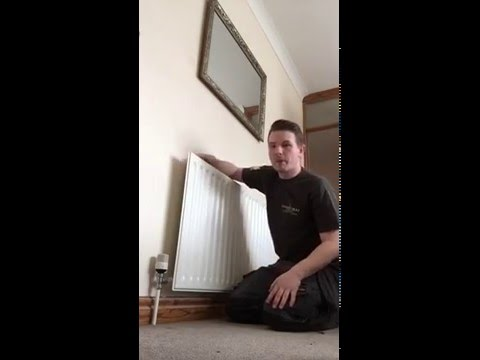 How to remove an air lock in a radiator or central heating system.