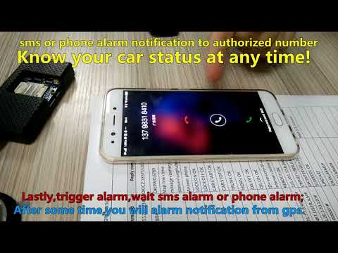 short message or phone alarm notification to car owner automatically when trigger car alarm