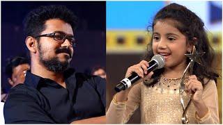 Theri Baby Nainika Shares Her Cute Moments With Thalapathy Vijay In Shoot Sets