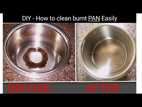 DIY How to clean burnt pan or wok EASILY || Useful kitchen tip || by my cute munchkin