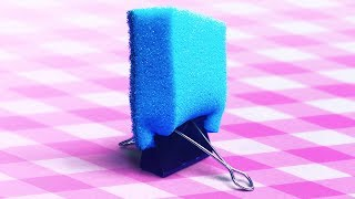 20 COOL CLEANING TRICKS    SPONGE HACKS
