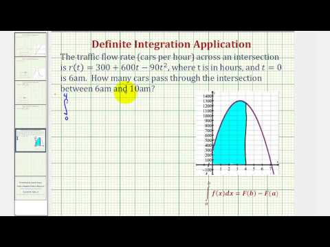 Ex: Definite Integration Application - Cars Passing Through an Intersection