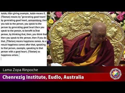 20180601 1900 LZR Chenrezig Institute, Eudlo, Australia with TRANSCRIPT