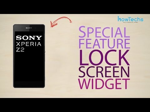 Sony Xperia Z2 - Lock Screen Widget - How To