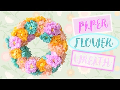 Easy Crepe Paper Flower Wreath | Affordable Spring Home Decorations | MVD