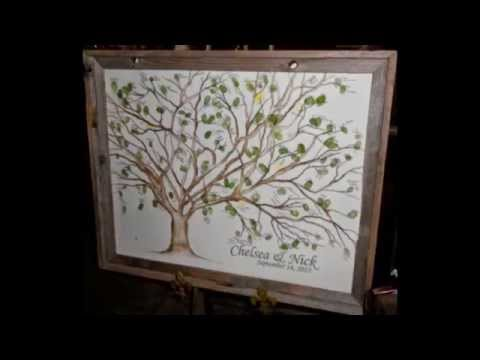 Cherry Blossom Thumbprint Guestbook Trees @ fourch.etsy.com