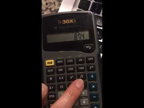 Calculating Variance, Mean, and Standard Deviation on TI-30XA Calculator