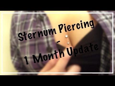 Sternum Piercing - 1 Month Update |NativeBeauty