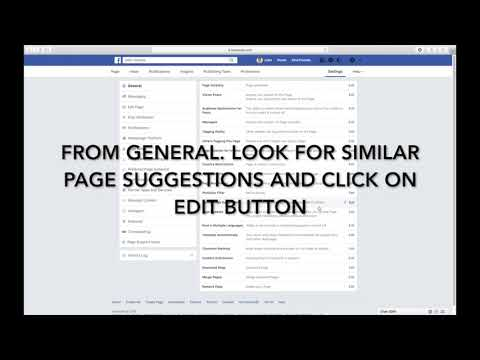 HOW TO TURN OFF OR ON SIMILAR PAGE SUGGESTIONS ON YOUR FACEBOOK PAGE