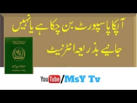 How To Check Your Pakistani  Passport Online in Urdu / Hindi