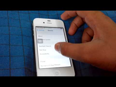 How to change iPhone 4 number language