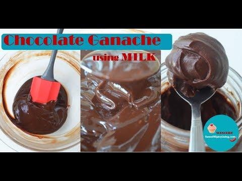 SweetNSpicyLiving recipe - Simple Chocolate Ganache using Milk (NO Heavy Cream) (Ep # 1)