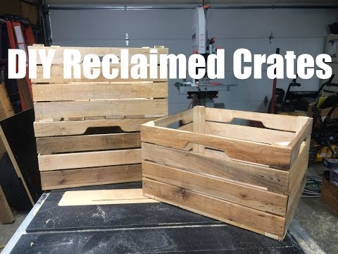 Custom DIY Stacking Wood Crates
