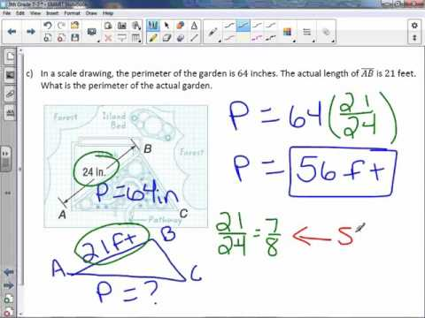 8th Grade 7-7: Area and Perimeter of Similar Figures