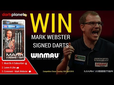 WIN MARK WEBSTER SIGNED DARTS - AWESOME PRIZE - OPEN WORLDWIDE