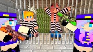 Download Преступник ограбил тюрьму в Майнкрафт! Копы и преступники - побег из тюрьмы. Нуб minecraft троллинг Video