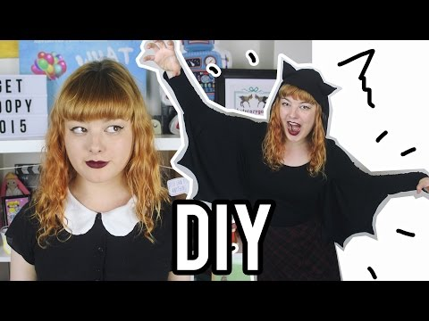 DIY Bat Wing Hooded Shirt | Make Thrift Buy #26 - Halloween Edition!