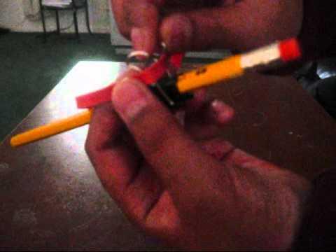 how to make a pencil gun