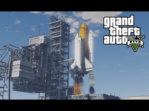 GTA V Space Shuttle Launch Script + Map! (Prepare for Space MOD)