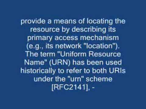 What's the difference between a URI and a URL?