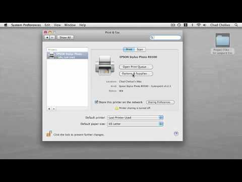Mac OS X Snow Leopard: PRINTING   Installing a Printer