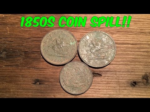 1850s Coin Spill!!!  Found in Ontario
