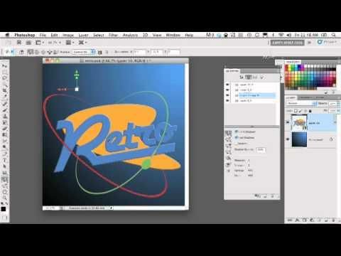 Retro 3D Logo   Photoshop CS5 Extended Tutorial