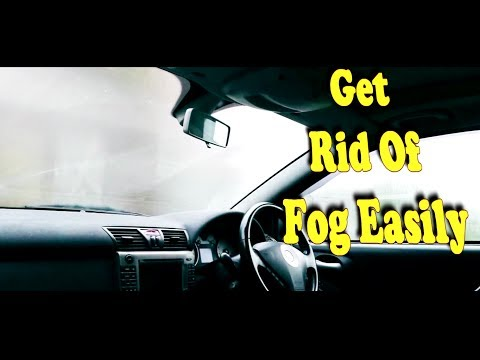 how to get clean windscreen  while driving in rain (Defog window)