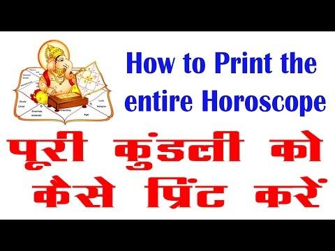 How to print the entire horoscope in hindi/urdu