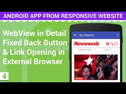 WebView in Android with Fixed Back Button & Link | Android App from Responsive Website - 4